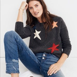 Madewell Gray Starry Night Pullover Sweater (S)